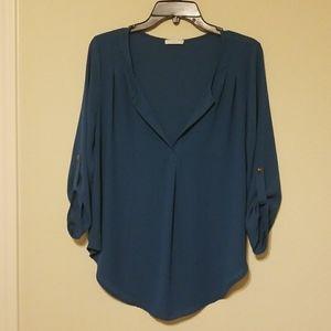 Anthropologie Lush career blouse size large